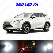 4x White LED Trunk + Visor Vanity Mirror Light Bulbs for 2015 2016 Lexus NX200t