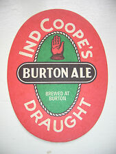 VINTAGE IND COOPE'S DRAUGHT BURTON ALE BEER MAT / COASTER