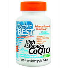 Doctor's Best High Absorption COQ10 400 mg 60 Capsules BEST PRICE Free Shipping
