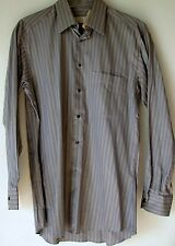 Ermenegildo Zegna Dress Shirt 15 38 Gray Striped button Down Mens NWT NEW
