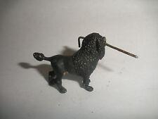 Antique Austria Vienna Bronze Cold Painted poodle dog holding walking stick cane
