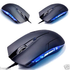 Adjustable 1600 DPI Optical USB Wired Gaming Mouse Game Mice For PC Laptop Blue