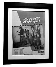 STRAY CATS+Debut+TOUR+POSTER+AD+RARE ORIGINAL 1981+FRAMED+EXPRESS GLOBAL SHIP