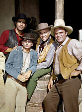 PHOTO BONANZA - DAN BLOCKER, LORNE GREENE, MICHAEL LANDON PR053