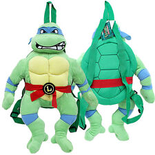 TMNT Leonardo Turtle Plush Doll Backpack Blue Mask Ninja Turtle  Costumes Bag