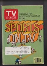 August 19-25 Sports on Television TV Guide W/Mailing Label