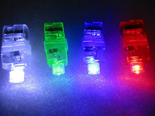 20xLED Finger Lights Lamps Rave Party lightUp Beam Torch Glow Ring UK LITE TOY