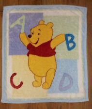 Winnie the Pooh Disney Baby Blanket ABCD Letters Toddler Throw