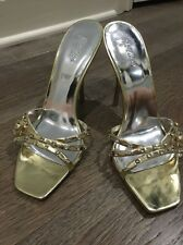Marciano Guess Womens Gold Heels Shoes With Crystals. US 8.0