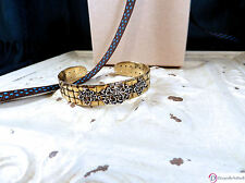 SARA BLAINE Acanthus Cuff Bracelet ~ Sterling Silver on Brass Basket Weave