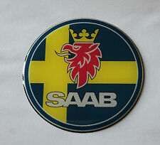 Saab sweden sticker/autocollant-diamètre 62mm brillant en forme de dôme gel finition