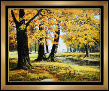 Robert William Wood Original Landscape Oil Painting on Canvas Signed Fall Art