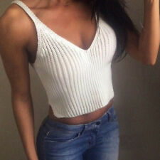 NEW Fashion Knit Crop Sleeveless Vest Women Slim Sling Tank Top Camis Sport Vest
