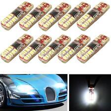 10x White T10 W5W 3014 24-SMD LED Silica Gel Side Strobe Flash Light Bulb 12V DC