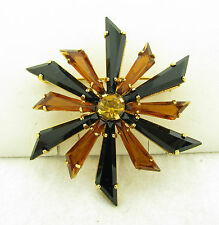 Gorgeous Vintage Austria Signed Open Back Kite Shaped Brooch Pin