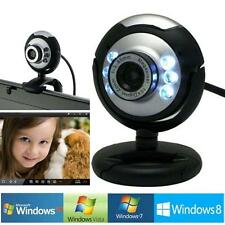 USB 12.0 MP 6 LED Webcam Camera Web Cam With Built in Mic for Laptop Desktop SS