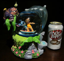RARE Disney Lilo and Stitch Surf Surfing Dr. Jumba Pleakley Snowglobe Music Box