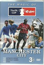 THE MAGIC OF FA CUP MANCHESTER CITY - 3 DVD SET ULTIMATE GOALS & MORE - FOOTBALL