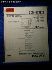 Sony Service Manual GDM 17SE2T Color Graphic Display (#4654)
