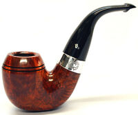 Peterson Sherlock Holmes Baskerville Smooth Silver Mounted Pipe takes 9mm Filter