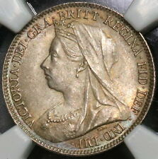 1897 NGC MS 63 Silver 6 Pence Victoria BU GREAT BRITAIN Coin (16110105C)