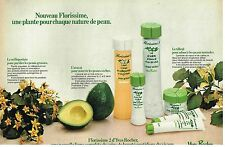 Publicité Advertising 1981 Cosmetique lait et Lotion Yves Rocher