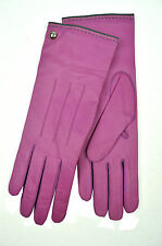 [84 49] COACH WOMENS NEW ROSE PURPLE 82821 GENUINE LEATHER CASHMERE GLOVES 7