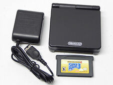 Nintendo GameBoy Advance SP Black System / Super Mario Bros. 3 AGS-101 Bundle