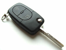VW Golf Polo Jetta Passat 2 Button Flip Remote Key Fob Case + Blank HAA Blade