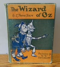 "1903 Vintage copy of ""The wizard of OZ"" written by Baum green Hardcover book"