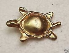 Belle Broche Bijou Vintage Art Déco bestaire Tortue en relief couleur or / 188