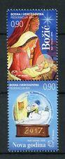 Bosnia y Herzegovina Año Nuevo y Navidad 2016 estampillada sin montar o nunca montada 2v Set Natividad sellos