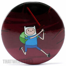 "Adventure Time with Finn & Jake Sword Swinging Finn 1.25"" Button NEW"