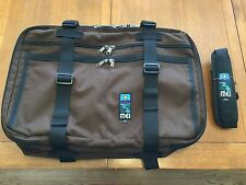 NEW MEI EXECUTIVE OVERNIGHTER COFFEE BROWN CARRYON LUGGAGE BAG RED OXX AIR BOSS