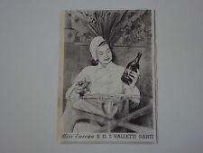 advertising Pubblicità 1949 3 VALLETTI SARTI