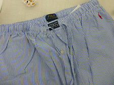 BNWT Ralph Lauren Blue White Stripe Cotton Pyjama Bottoms / Lounge Pants size L
