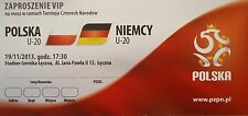 VIP TICKET 19.11.2013 u20 POLSKA POLONIA-Germania