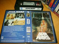 VHS *STAR WARS - (A NEW HOPE)* Australian CBS FOX - Early 1st Sell through Issue