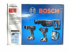 Bosch 18V 2 Ah Cordless Lithium-Ion 4-Tool Combo Kit CLPK495-181 new