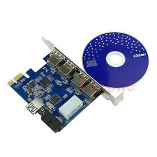 5 Port  PCI-E PCI Express Card to USB 3.0+19 Pin Connector Adapter For Vista Win