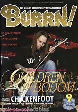 Burrn! Heavy Metal Magazine September 2009 Japan Children of Bodom Megadeth