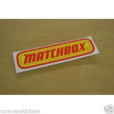 Classic Matchbox Logo Stickers Decals Graphics - PAIR