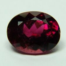 Natural Pink Tourmaline,3.24ct,8x10x5mm,oval, red pink, very clean Brazil,409