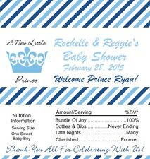 25 Personalized Little Prince Baby Shower Candy Bar Wrappers