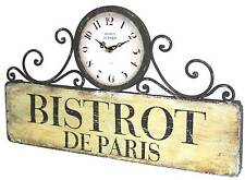 horloge pendule murale en fer style ancienne rectangle de gare cuisine salon