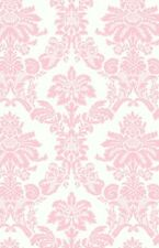 Wallpaper Designer Light Pink Damask on Off White