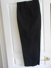 POLO BY RALPH LAUREN--BIG ANDREW PANTS--COTTON BLACK CLASSIC CHINO--44B-30