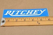 Vintage Ritchey Bicycle Blue Sticker Decal CJ