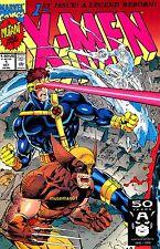 1991 X-MEN #1 ~ Jim Lee Variant Wolverine / Cyclops Cover ~ 9.6 NM+ ~ @LOOK@