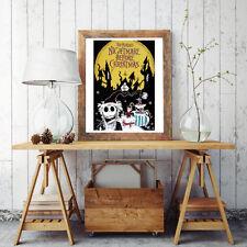 Movie Poster 35X50 CM - Nightmare Before Christamns - Tim Burtons